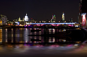 London Scenes Prints - Blackfriars Bridge Thames London Print by David French