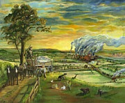 Transportation Paintings - Bleeding Kansas - A Life and Nation Changing Event by Mary Ellen Anderson