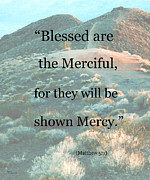 Sermon On The Mount Prints - Blessed are the Merciful Print by Patricia Januszkiewicz