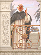 St. Augustine Cathedral Posters - Blessed Father Lucas Poster by John Alan  Warford