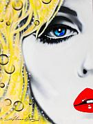 Rock Stars Paintings - Blondie by Alicia Hayes