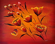 Relax Paintings - Blooming flowers by Preethi Mathialagan
