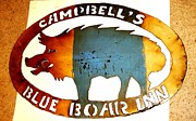 Campbell Clan Framed Prints - Blue Boar Inn Framed Print by Larry Campbell