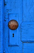 Abstracted Photo Framed Prints - Blue Door Framed Print by Lauren Hunter