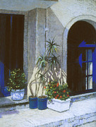 Europe Pastels - Blue Entrance by Howard Scherer