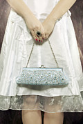 Purse Photo Framed Prints - Blue Handbag Framed Print by Joana Kruse