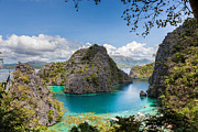 Palawan Prints - Blue Lagoon at Kayangan Lake Coron island Philippines Print by Fototrav Print