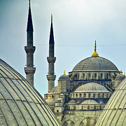 Byzantine Art - Blue Mosque from hagia sophia 02 by Antony McAulay