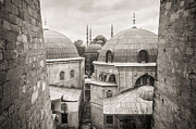 Sultanahmet Camii Framed Prints - Blue Mosque View From Hagia Sophia Framed Print by For Ninety One Days