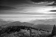 Cowee Mountain Overlook Prints - Blue Ridge at Dusk Print by Andrew Soundarajan