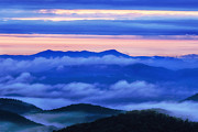 North Carolina Photo Posters - Blue Ridge Dawn Poster by Andrew Soundarajan