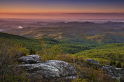Blue Ridge Mountains Posters - Blue Ridge Morning Poster by Andrew Soundarajan