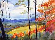 Tree. Sycamore Paintings - Blue Ridge Mountains of West Virginia by Katherine Miller