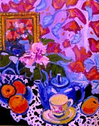 Still Life Paintings - Blue Teapot by Brian Simons