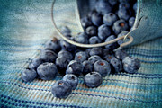 Harvest Art Framed Prints - Blueberries Framed Print by Darren Fisher