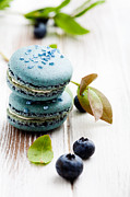 Cookie Prints - Blueberry macaroons Print by Kati Molin