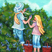 Arkansas Paintings - Blueberry Pickin by Marla Hoover