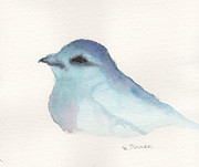 Blue Paintings - Bluebird of Happiness by Elizabeth B Tucker 