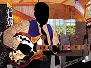 Bb King Mixed Media Prints - Blues Boy Print by Everett Spruill