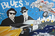 Movie Posters Paintings - Blues Brothers  by Federico  De muro