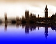 London Skyline Art - Blurred Politics by Sharon Lisa Clarke