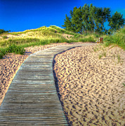 National Lakeshore Prints - Boardwalk through the Dunes Print by Twenty Two North Gallery