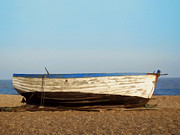 Relaxing Photo Prints - Boat on shore 02 Print by Pixel  Chimp