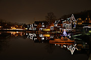 Boathouse Row Framed Prints - Boathouse Row Lights Framed Print by Bill Cannon