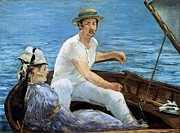 Talking Painting Prints - Boating Print by Edouard Manet