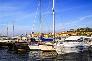 Yacht Photo Prints - Boats at St.Tropez Print by Elena Elisseeva