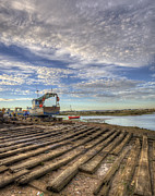 Nigel Hamer Prints - Boatyard Slipway Print by Nigel Hamer