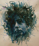 Face  Paintings - Bob Dylan by Paul Lovering