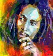 Celebrities Painting Prints - Bob Marley Print by Dragica  Micki Fortuna