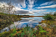 North Wales Digital Art - Bodgynydd Lake by Adrian Evans