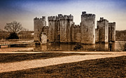 Draw Bridge Prints - Bodiam Castle Print by Donald Davis