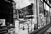 North Vancouver Posters - books in the window of a used book store Vancouver BC Canada Poster by Joe Fox