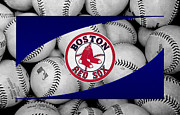 Baseball Bat Framed Prints - Boston Red Sox Framed Print by Joe Hamilton