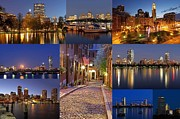 Supermoon Photos - Boston Skyline Photography by Juergen Roth