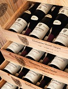 Wine Cellar Photos - Bottles of Vosne-Romanee Premier Cru Cros Parantoux by Anonymous