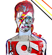 Icons Mixed Media - Bowie  by Brian Buckley