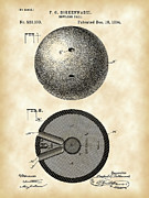 Bowling Digital Art - Bowling Ball Patent by Stephen Younts