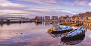 Wooden Ship Framed Prints - Bowling Harbour Panorama 02 Framed Print by Antony McAulay