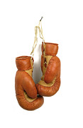 Glove Metal Prints - Boxing gloves Metal Print by Bernard Jaubert