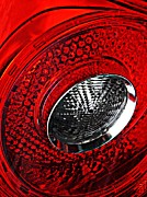 Brake Metal Prints - Brake Light 3 Metal Print by Sarah Loft