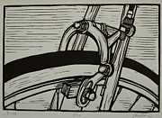 Bike Drawings - Brake by William Cauthern