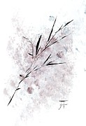 Pen And Ink Drawings Metal Prints - Branch 2 Metal Print by John Krakora
