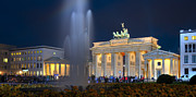 Berlin Pyrography Metal Prints - Brandenburger Tor Metal Print by Steffen Gierok