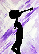 Concert Painting Originals - Brandi Carlile Living The Dream by Alys Caviness-Gober