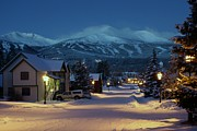 Path Prints - Breckenridge Colorado Morning Print by Michael J Bauer