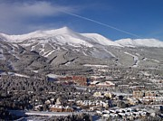 Colorado Mountains Prints - Breckenridge Powder Day Print by Michael J Bauer